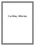 Cao Bằng - Điểm hẹn