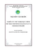 NGHIÊN CỨU THỬ NGHIỆM QUY TRÌNH THU NHẬN CHẾ PHẨM GIÀU β-GLUCAN VÀ OLIGOGLUCOSAMIN