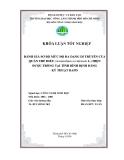 ĐÁNH GIÁ SƠ BỘ MỨC ĐỘ ĐA DẠNG DI TRUYỀN CỦA QUẦN THỂ ĐIỀU (Acanardium occidentale L.) HIỆN ĐƯỢC TRỒNG TẠI TỈNH BÌNH ĐỊNH BẰNG KỸ THUẬT RAPD