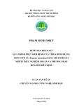 BƢỚC ĐẦU KHẢO SÁT QUÁ TRÌNH PHÁT SINH BỆNH CỦA VIRUS ĐỐM TRẮNG TRÊN TÔM SÖ (Penaeus monodon) BẰNG MÔ HÌNH GÂY NHIỄM THỰC NGHIỆM CHUẨN VÀ PHƢƠNG PHÁP HÓA MÔ MIỄN DỊCH
