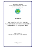 XÁC ĐỊNH CÁC KIỂU GEN THỤ THỂ PROLACTIN TRÊN MỘT SỐ GIỐNG HEO CÔNG NGHIỆP BẰNG KỸ THUẬT PCR - RFLP