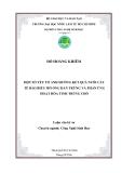 MỘT SỐ YẾU TỐ ẢNH HƢỞNG KẾT QUẢ NUÔI CẤY TẾ BÀO BIỂU MÔ ỐNG DẨN TRỨNG VÀ PHẢN ỨNG HOẠT HÓA TINH TRÙNG CHÓ