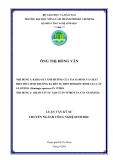 KHẢO SÁT ẢNH HƯỞNG CỦA TIA GAMMA VÀ CHẤT ĐIỀU HOÀ SINH TRƯỞNG BA ĐẾN SỰ BIẾN ĐỔI KIỂU HÌNH CỦA CÂY GLOXINIA (Sinningia speciosa) IN VITRO