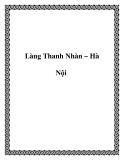 Làng Thanh Nhàn – Hà Nội