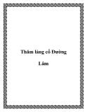 Thăm làng cổ Ðường Lâm
