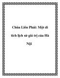 Chùa Liên Phái: Một di tích lịch sử giá trị của Hà Nội