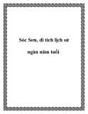 Sóc Sơn, di tích lịch sử ngàn năm tuổi