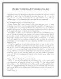 Online seeding & Forum seeding
