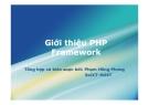 Giới thiệu PHP Framework