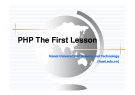 Bài giảng PHP: Chương 1. Tổng quan thiết kế Web - Đào Quang Minh