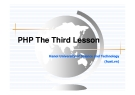 PHP The First Lesson - Chương 3