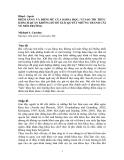 """Báo cáo """" ĐIỂM SÁNG VÀ ĐIỂM MÙ CỦA KHOA HỌC: VÌ SAO TRI THỨC KHÁCH QUAN KHÔNG ĐỦ ĐỂ GIẢI QUYẾT NHỮNG TRANH CÃI VỀ MÔI TRƯỜNG"""""""