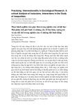 """Báo cáo """" Thực hành nghiên cứu giao thoa trong nghiên cứu xã hội học: Một phân tích phê bình về những yếu tố bao hàm, tương tác và các thể chế trong nghiên cứu về những bất bình đẳng"""""""