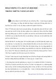 """Báo cáo """" HOẠT ĐỘNG CỦA BAN XÃ HỘI HỌC TRONG NHỮNG NĂM GẦN ĐÂY """""""
