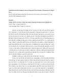"""Báo cáo """"Những vấn đề về tổ chức và phát triển quản lý tổng hợp tài nguyên nước sông Sài Gòn """""""