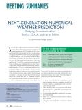 "Báo cáo "" NEXT-GENERATION NUMERICAL WEATHER PREDICTION Bridging Parameterization, Explicit Clouds, and Large Eddies """