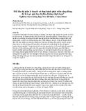 """Báo cáo """" Mối liên hệ giữa lý thuyết và thực hành phát triển cộng đồng: đó là trực giác hay là điều không thích hợp? Nghiên cứu trường hợp New Britain, Connecticut"""""""