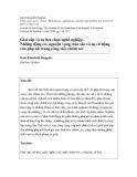 """Báo cáo """" Giai cấp và sự lựa chọn nghề nghiệp - Những động cơ, nguyện vọng, bản sắc và sự cơ động của phụ nữ trong công việc chăm sóc """""""
