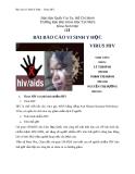 BÀI BÁO CÁO VI SINH Y HỌC VIRUS HIV