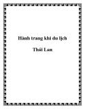 Hành trang khi du lịch Thái Lan