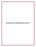Đề thi hết môn Marketing căn bản K25