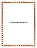 Đề thi Nguyên lý kế toán 23HT