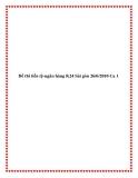 Đề thi tiền tệ-ngân hàng K24