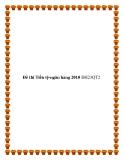 Đề thi Tiền tệ-ngân hàng 2010 ĐH23QT2