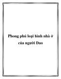 Phong phú loại hình nhà ở của người Dao