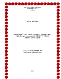 LUẬN VĂN: NGHIÊN CỨU QUY TRÌNH SẢN XUẤT SẢN PHẨM CÁ NỤC (Decapterus maruadsi ) TẨM GIA VỊ THANH TRÙNG XÔNG KHÓI