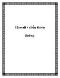 Du lịch Hawaii - chốn thiên đường