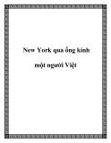 New York qua ống kính một người Việt