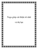 Yoga giúp cải thiện trí nhớ và thị lực