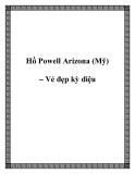 Hồ Powell Arizona (Mỹ) – Vẻ đẹp kỳ diệu