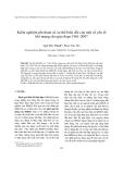 """Báo cáo """"  Kiểm nghiệm phi tham số xu thế biến đổi của một số yếu tố khí tượng cho giai đoạn 1961-2007 """""""