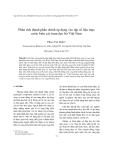 """Báo cáo """" Phân tích thành phần chính áp dụng vào tập số liệu mực nước biển các trạm dọc bờ Việt Nam  """""""