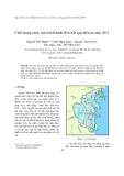 """Báo cáo """"  Chất lượng nước mặt tỉnh Khánh Hòa-Kết quả điều tra năm 2011 """""""