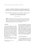 "Báo cáo "" Long-term sediment distribution calculation taking into account sea level rise and the development of Day estuary """