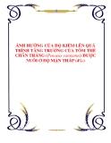 ẢNH HƯỞNG CỦA ĐỘ KIỀM LÊN QUÁ TRÌNH TĂNG TRƯỞNG CỦA TÔM THẺ CHÂN TRẮNG (Penaeus vannamei) ĐƯỢC NUÔI Ở ĐỘ MẶN THẤP (4‰)