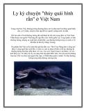 """Ly kỳ chuyện """"thủy quái hình rắn"""" ở Việt Nam"""