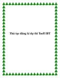 Thủ tục đăng kí dự thi Toefl IBT