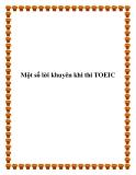 Một số lời khuyên khi thi TOEIC