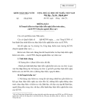 MẪU  THÔNG BÁO Kế hoạch kiểm tra thực hiện kiến nghị kiểm toán năm... của KTNN chuyên ngành (khu vực)