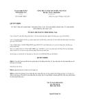 Quyết định số 812/QĐ-UBND