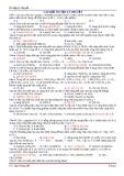 Ôn tập lý thuyết Hóa học