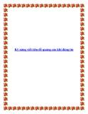Kỹ năng viết tiêu đề quảng cáo khi đăng tin