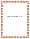 Đề thi môn toán lớp 11 học kì 2