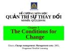 Đề cương quản trị sự thay đổi (ĐH Hoa Sen) - Chương 3