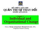 Đề cương quản trị sự thay đổi (ĐH Hoa Sen) - Chương 5