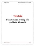 Tiểu luận: Phân tích môi trường bên ngoài của Vinamilk